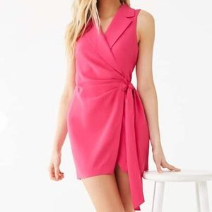 Forever 21 pink wrap dress